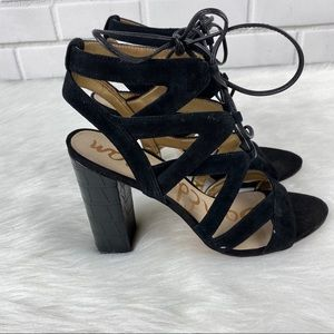 Sam Edelman Yardley suede lace up heels | size 9